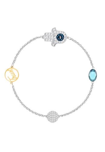 Swarovski blue and silver Remix Strand Hamsa D798BAC73FE72DGS 1 1826a3ae69