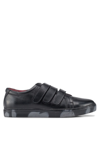 Acuto black Leather Sneakers D126ASHBFCD172GS_1