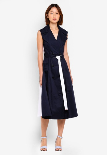 Haute Kelly navy Mina Two Way Trench Dress 6B984AAD628C55GS_1
