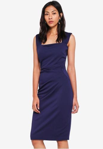 Dorothy Perkins navy Scarlett B Navy 'Lara' Bodycon Dress 7E962AA0888FD1GS_1