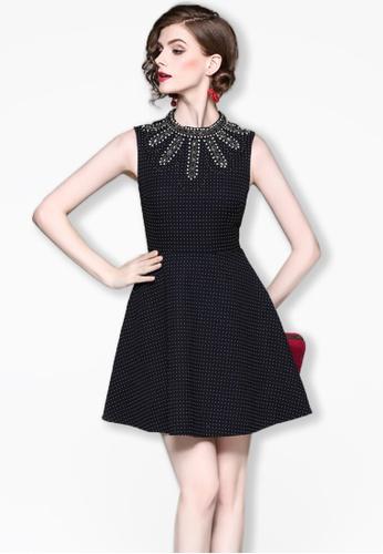 Sunnydaysweety black F/W Black Sleeveless One Piece Flare Dress A083133 F8A97AAA42C675GS_1