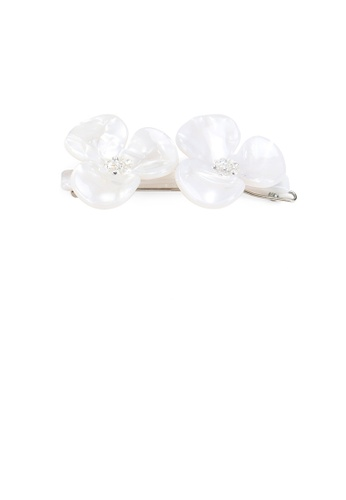 Glamorousky white Fashion and Elegant White Double Flower Hair Clip with Cubic Zirconia 04DB6AC5F8313BGS_1