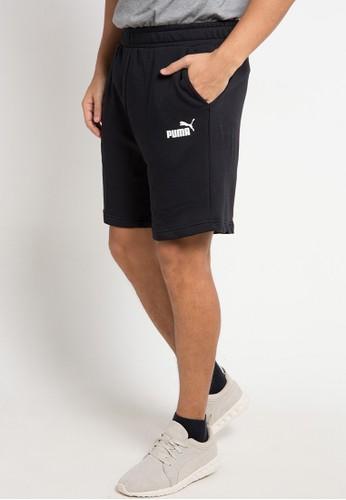 Puma black Sportstyle Core Essentials Slim Shorts 0FA0BAA214AF64GS_1