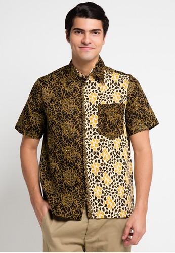 Adikusuma yellow Kemeja Batik Alur Mega AD742AA0UXMXID_1