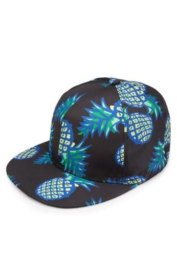 鳳梨印花鴨舌帽,esprit outlet 桃園 飾品配件, 飾品配件