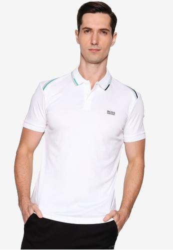 BOSS white Paule Polo Shirt 04E06AA47D9968GS_1