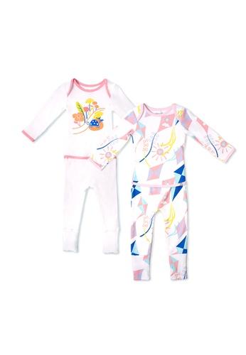OETEO white and pink Road Trip Easywear 2-Piece Bundle Set (Pink) B37B9KABE5BACEGS_1