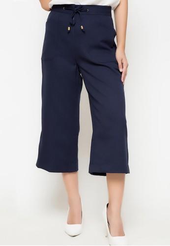 Novo blue Tied Culottes Pants 095 B2754AACC056F3GS_1