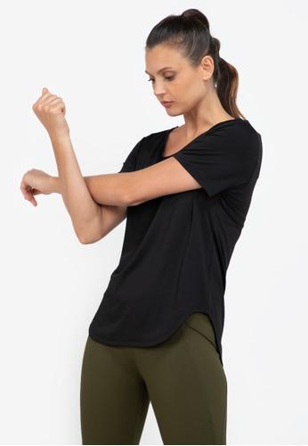 ZALORA ACTIVE black Core Training Crew Neck T-Shirt C5045AA4621476GS_1