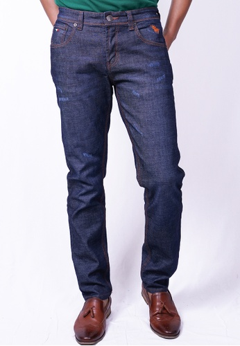 MILANO blue and navy Milano Jeans Long Pants Tight Fit Stretchable 484CEAADE9B6D1GS_1