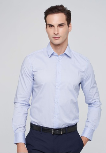 Sisley blue Slim Fit Shirt 03EF0AA83414AAGS_1