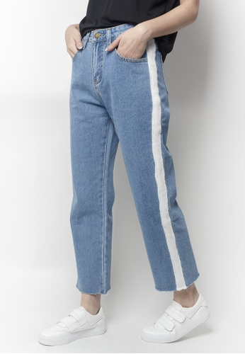 2nd Edition blue MILTON Striped Down Jeans 2754EAA716FF7FGS_1