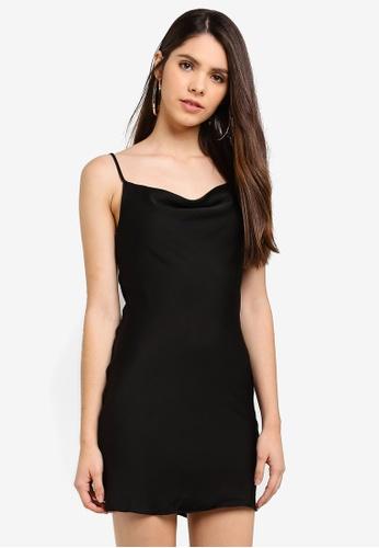 532905f7a3af Miss Selfridge black Black Satin Mini Slip Dress 94F00AAFC976EFGS_1