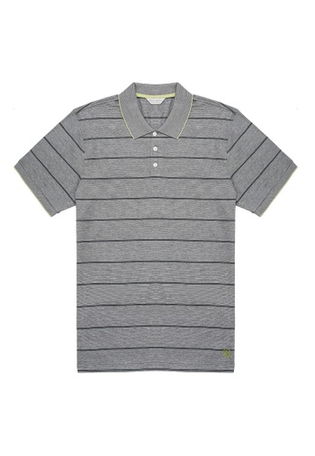 Gieves & Hawkes blue STRIPED COTTON PIQUE POLO 02690AAC27D726GS_1