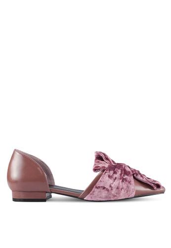 Velvet pink Velvet Bow D'Orsay C21CESH19A8FD7GS_1