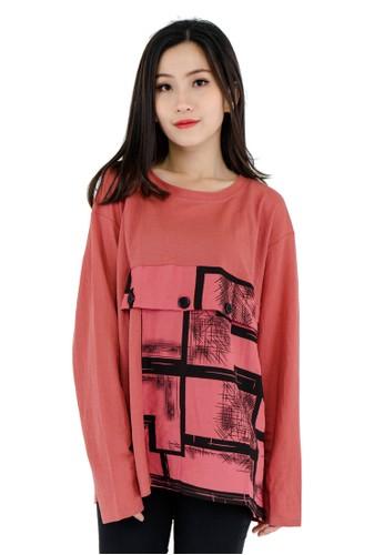 Junno pink Mozaic Magenta Blouse 54D39AA9F312B5GS_1