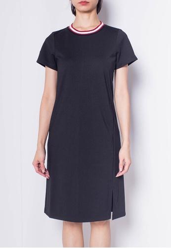 SUB black Women Short Sleeve Slip Dress EFDC1AAA27931AGS_1