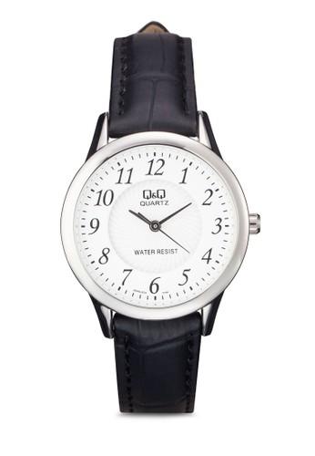 Q&Qesprit地址 Q949J304Y 細帶仿皮數字錶, 錶類, 其它錶帶