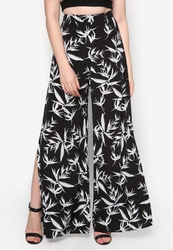 Lovzalora時尚購物網的koumi koumie 側開叉寬管長褲, 服飾, 長褲及內搭褲