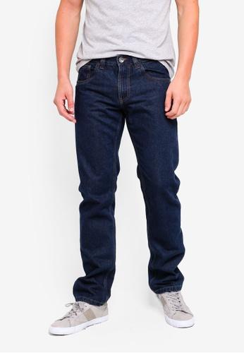 OVS 藍色 Regular Fit Denim Basic Jeans 1E5B4AAF4E559EGS_1