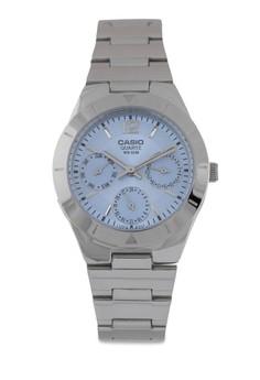 【ZALORA】 Casio LTP-2069D-2AVDF 多功能不銹鋼錶