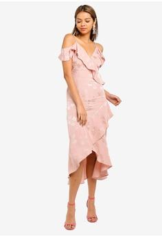 234c9ee13737 50% OFF Miss Selfridge Jacquard Cold Shoulder Dress RM 359.00 NOW RM 179.50  Sizes 10 14 · Miss Selfridge black Petite ...