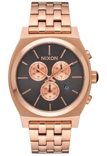 Nixon grey and gold Nixon - Time Teller Chrono - Rose Gold / Gunmetal NI855AC33KGWSG_1