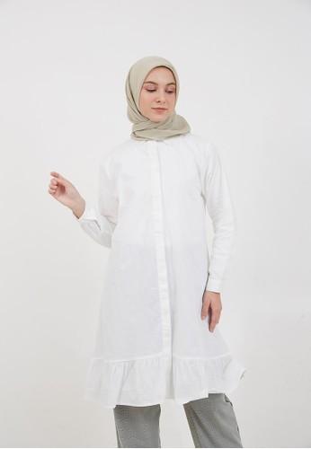 Hijabenka white Sephia Kaliya Long Shirt White 05B70AA500B62FGS_1