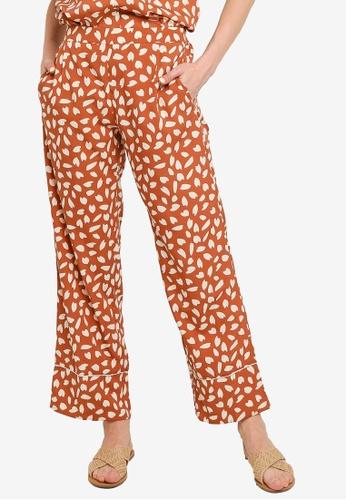 Compania Fantastica red Petals Print Trousers 04D50AA7765C42GS_1