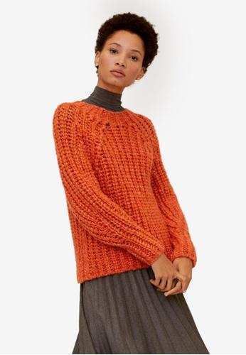 Mango orange Chunky-Knit Sweater B67BCAA8A930F3GS_1