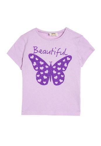 KOTON purple Short Sleeve T-Shirt C7112KA61369D8GS_1