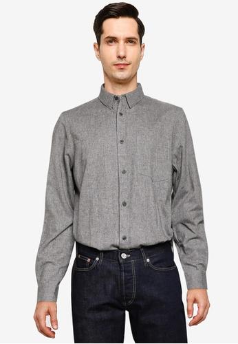 French Connection 灰色 混色法蘭絨襯衫 C5076AA8918B5CGS_1