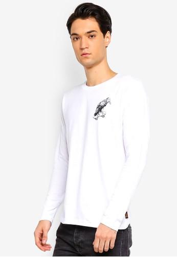 Brave Soul white Printed Long Sleeve T-Shirt 2143BAA34A1DA3GS_1