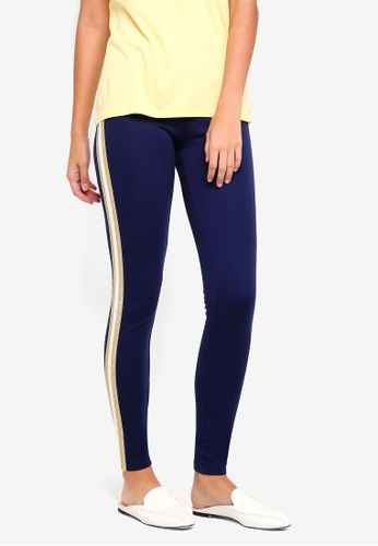 Pieces white and gold and navy Camille Leggings 7792AAA66F96CAGS_1