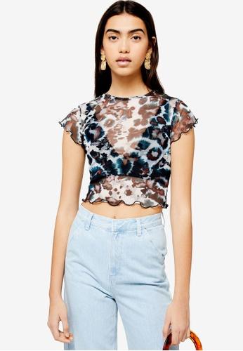 4496ebca8 Buy TOPSHOP Short Sleeve Ink Mesh T-Shirt Online | ZALORA Malaysia