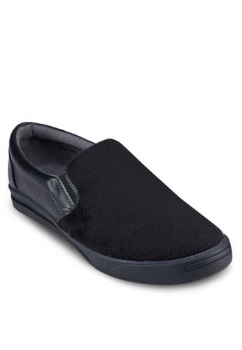 Terry 仿皮拼接懶人鞋zalora taiwan 時尚購物網鞋子, 鞋, 懶人鞋