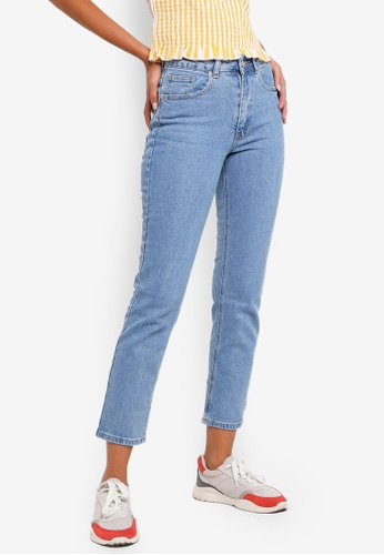 b6a076a1a Buy Factorie High Rise Straight Leg Jeans Online on ZALORA Singapore