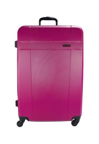 "Calvin Klein pink Calvin Klein Milan 24"" Spinner Hard Case Luggage 2CC3EAC7D99AB2GS_1"