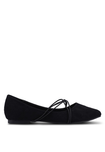 Mimosa black Strappy Pointy Ballerina Flats F5A8BSH264DFC5GS_1
