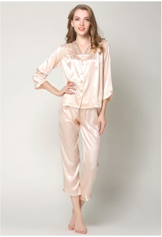 b2e17e0eedb SMROCCO Silk Long Sleeve Long Pants Pyjamas Set L7019-CAM 3D879AA8C2084CGS_1