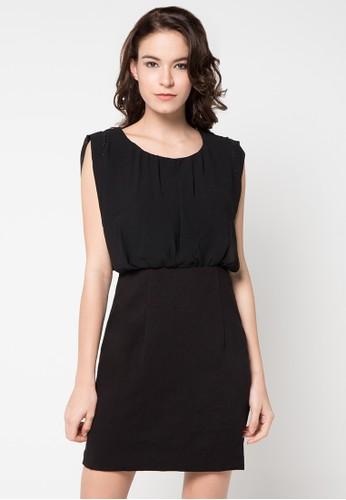 WHITEMODE black Carolina Dress WH193AA70RERID_1