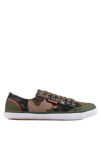 Superdry green and multi Low Pro Retro Sneakers 492E2SH499E329GS_1