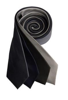 Four Piece Microcheck Necktie Combo A