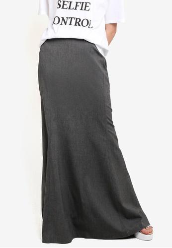 Mango grey Flared Long Skirt MA193AA51KOEMY_1