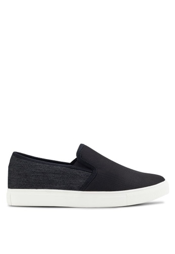 UniqTee black Neoprene Slip-On Sneakers UN097SH87IMYMY_1