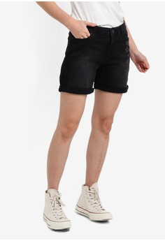 Image of Embellished Denim Shorts
