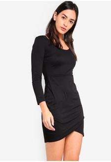 96230ac906a Basic Long Sleeves Bodycon Dress 97D1EAA1816740GS 1 ZALORA ...