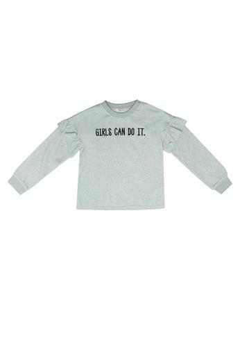 FOX Kids & Baby grey and white Frill Sweater 22A06KAFDFFC0DGS_1