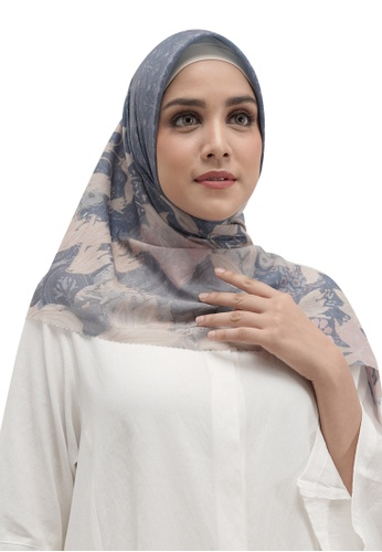 Buttonscarves 藍色 Buttonscarves Maharani Voile Square Blue 11F9DAABF1D08CGS_1