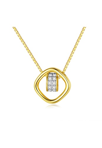 SUNRAIS gold Premium Silver S925 Gold Fashion Necklace EF1F8ACC6F2C51GS_1